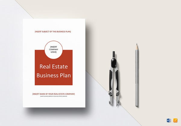 editable real estate business plan template