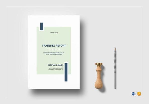 editable training report template