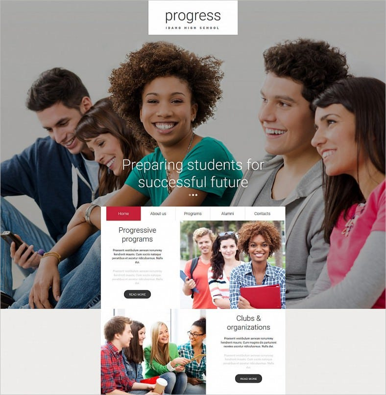 education responsive moto cms 3 template 788x808