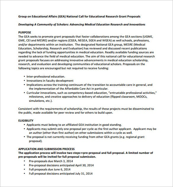 educational grand proposal pdf download