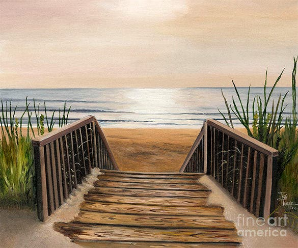 elegant 3d beach painting