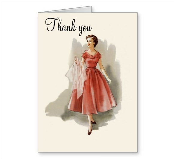 elegant fashion thank you card