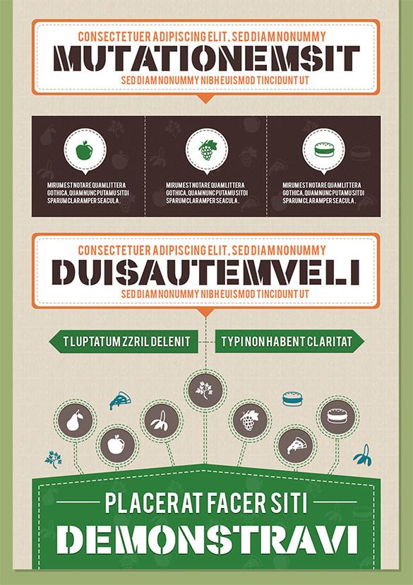 elegant free infographic psd template
