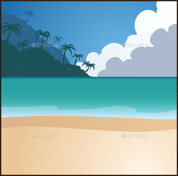 elegant premium beach background
