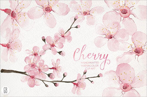 elegant premium watercolour spring background