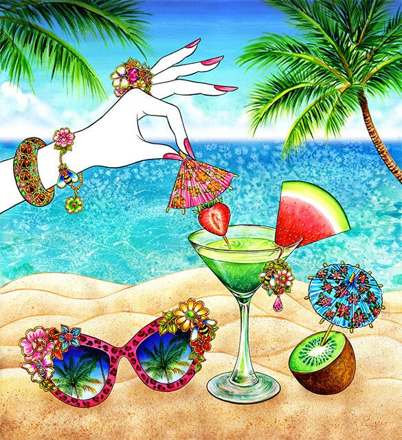 elegant summer illustration