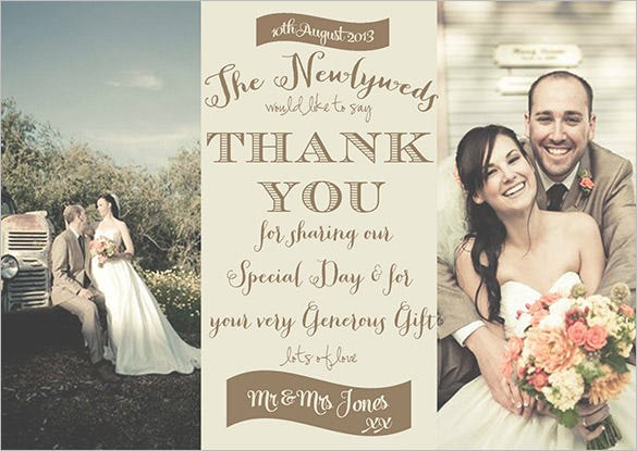 elegant wedding photography thank you card