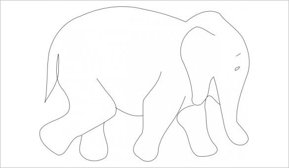 elephant body outline template free download