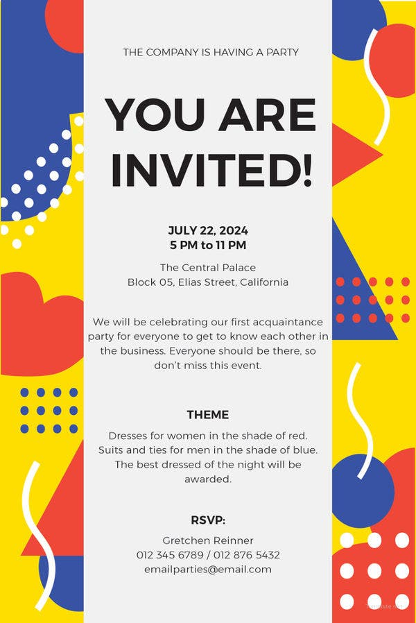 15  email invitation template