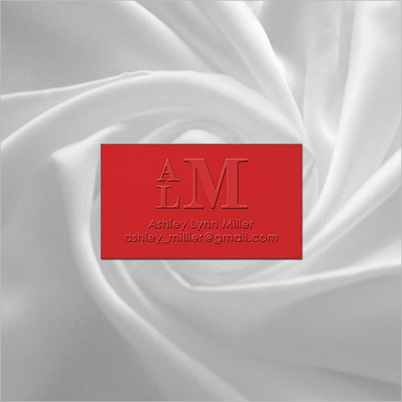 embossed prestige contact card for 36