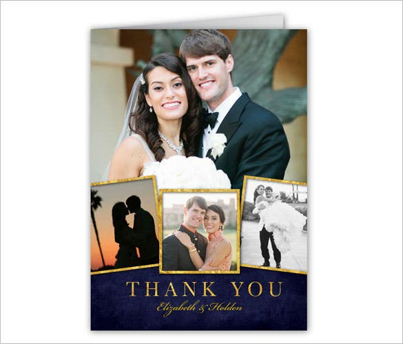 enamored wedding thank you card