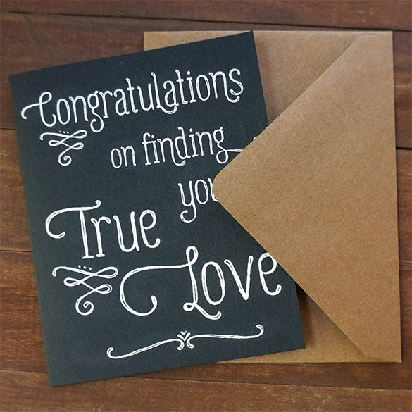 engagement congratulations card download