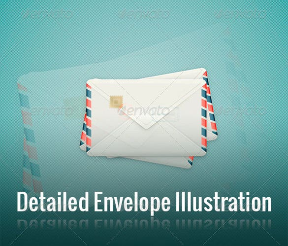 envelop template in detailed illustration