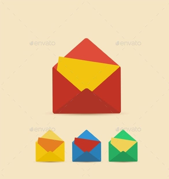envelope address vector eps template download