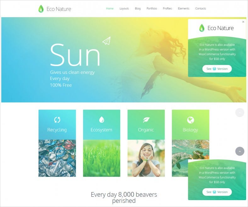 Environment & Ecology HTML5 Template