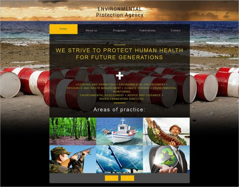 Environmental Protection Agency Website Template