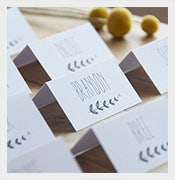 escort wedding place card