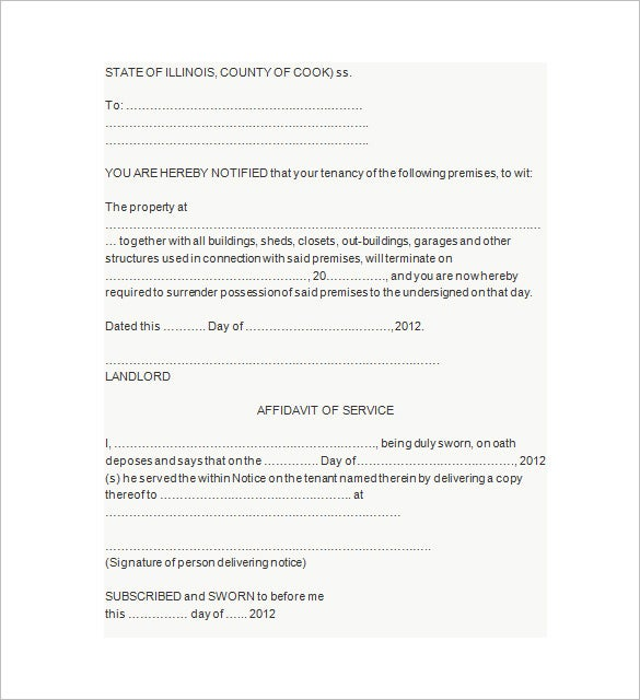 eviction notice to landlord free download