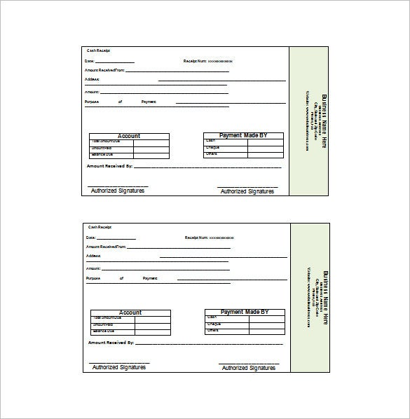 Business Receipt Template 11 Free Sample Example Format – Sample Business Receipt