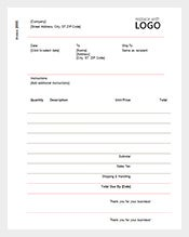 example contractor invoice receipt free