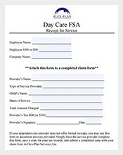 example day care receipt free