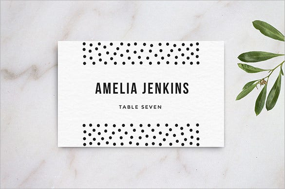 Name card template 16 free sample example format for Design table name cards