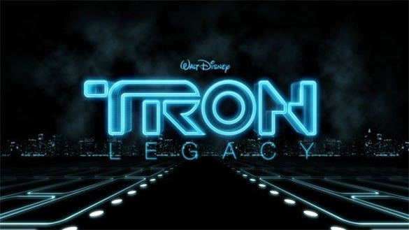 excellent 3d tron legacy typography