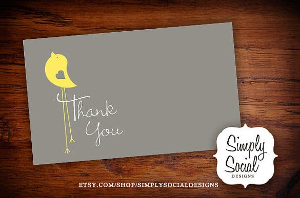 excellent baby shower thank you card