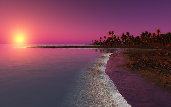 excellent sunset beach background for free
