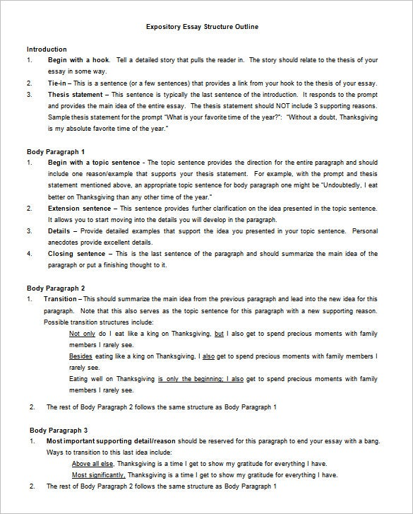 Essay Outline Template   Free Free Word Pdf Format Download