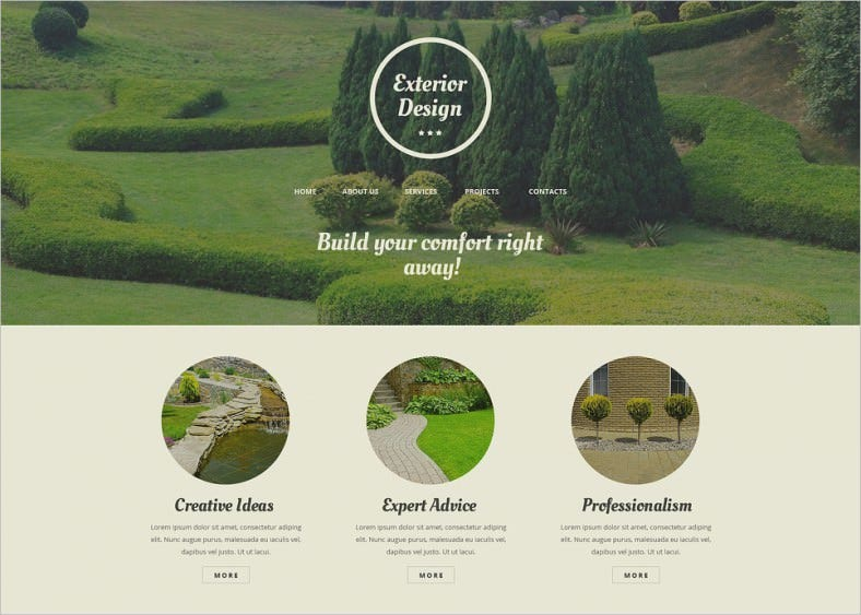 exterior design responsive website templates 788x563