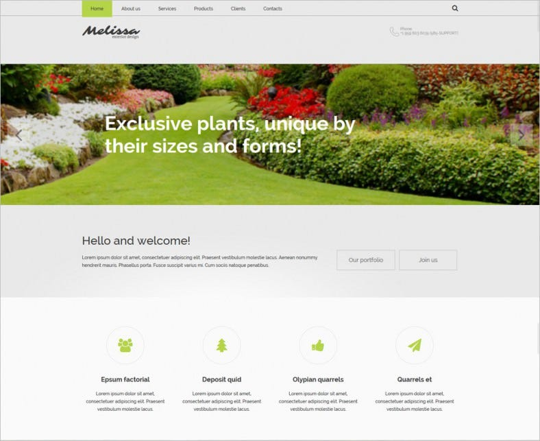 Exterior Design Responsive Website Themes