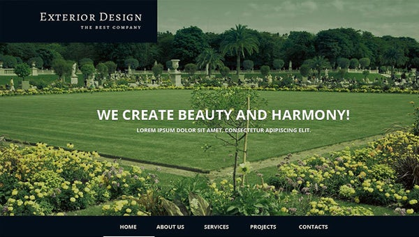 exterior design website templates