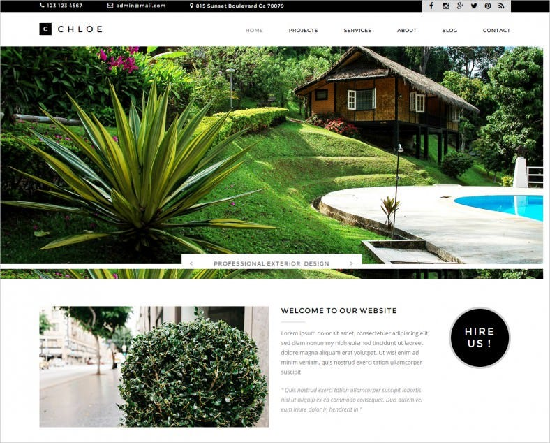 Exterior & Landscape Design Website Template