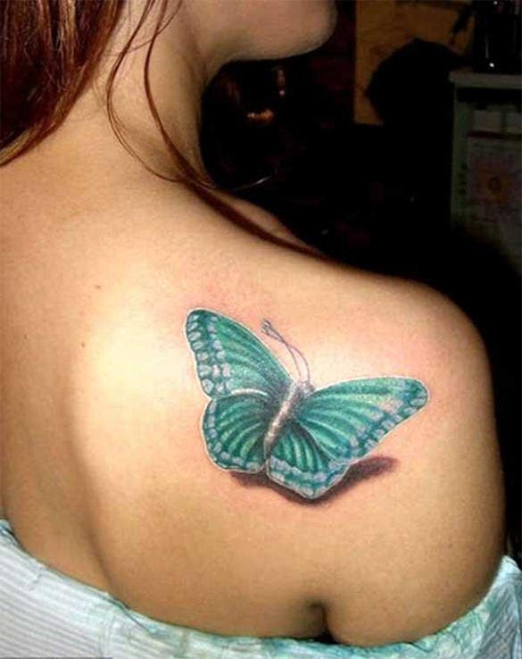 extraordinary 3d butterfly tattoo design