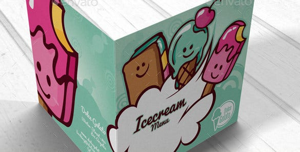 extravagant icecream illustrated template