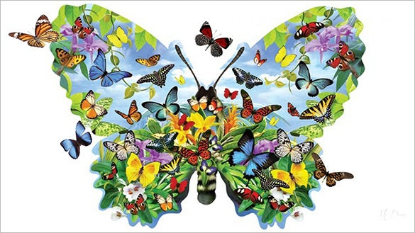 extravagent butterfly background for free