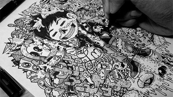 extravagent doodle art free download
