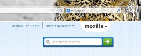 eyes of leopard firefox theme