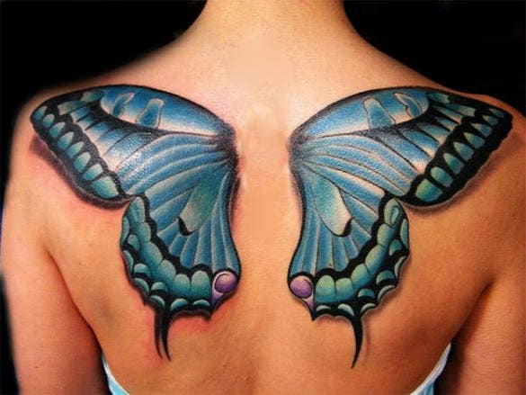 fabulous 3d butterfly tattoo design