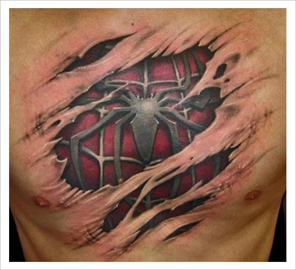 fabulous 3d tattoo design