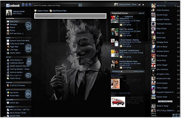 facebook anonymous theme