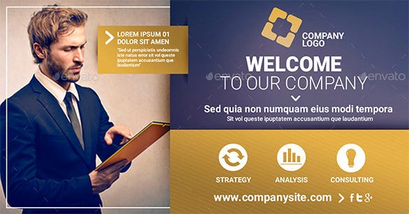 facebook banner template corporate multipurpose psd 2