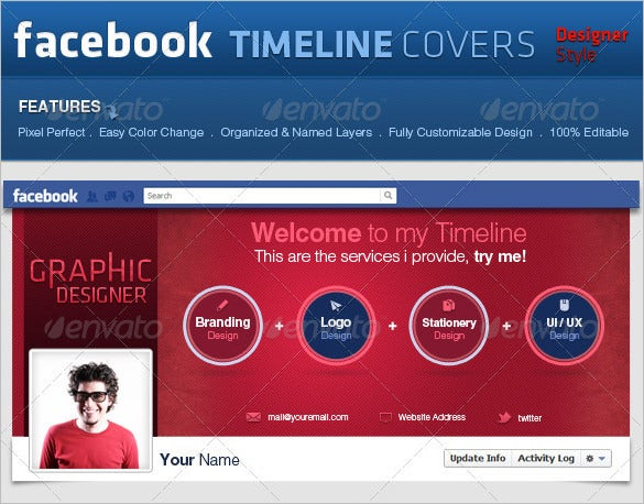 facebook covers pro style psd timeline 2