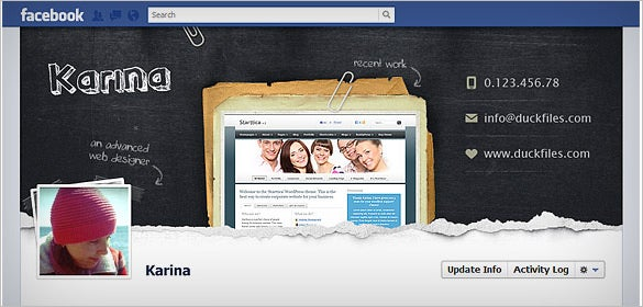 facebook timeline cover free psd download