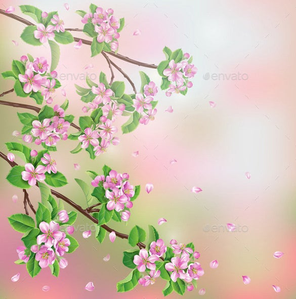 facinating premium spring background download