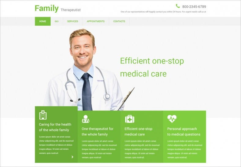 family therapeutist website template 788x547