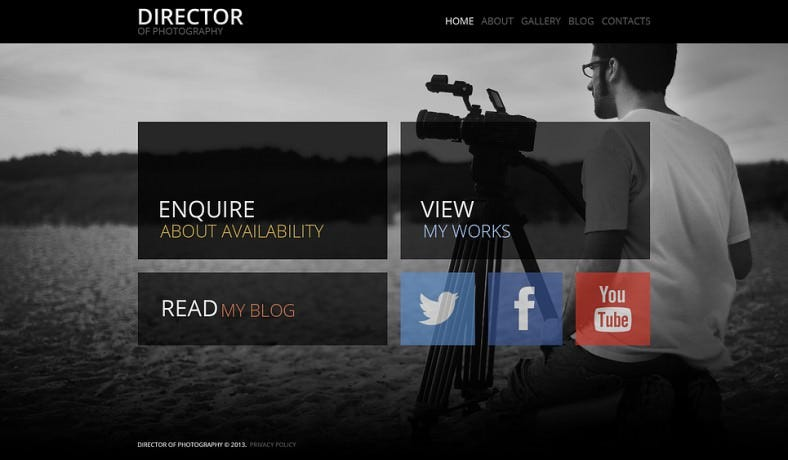 Fancy Photographer Portfolio WordPress Theme