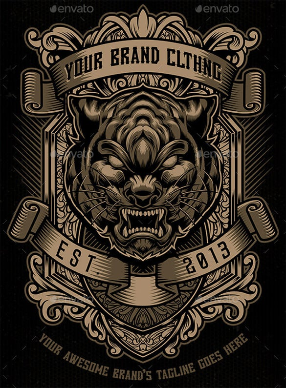 fantastic tiger illustrator template