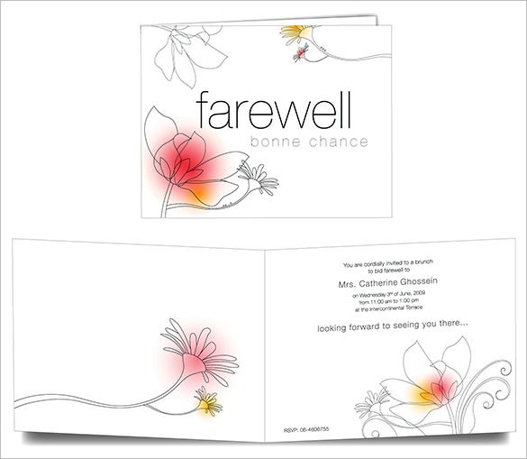 19 farewell card template word pdf psd eps free for Farewell banner template
